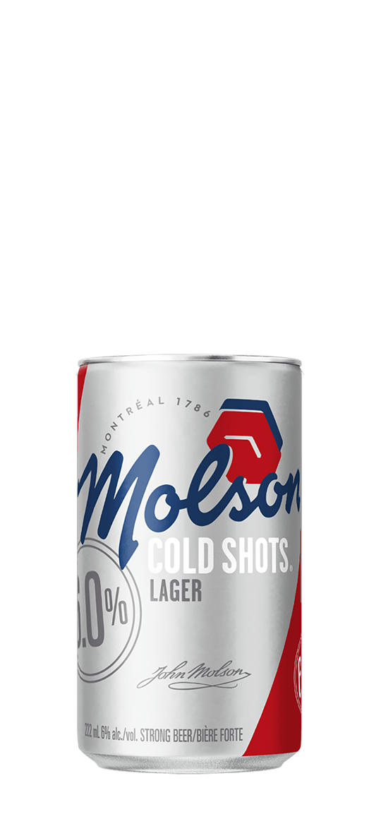 molson cold shot can